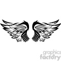 vinyl ready vector wing tattoo design 100