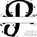 split regal p monogram vector design