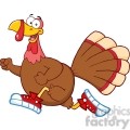 6906_Royalty_Free_Clip_Art_Happy_Turkey_Bird_Cartoon_Character_Jogging