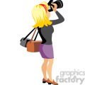 female photographer illustration  gif, png, jpg, eps, svg, pdf