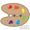 cartoon Paint Palette illustration clip art image