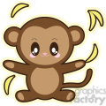 cartoon monkey illustration clip art image