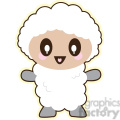 cartoon lamb illustration clip art image