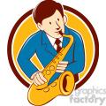musician playing saxophone CIRC