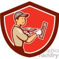 plasterer worker side standing shield  gif, png, jpg, eps, svg, pdf