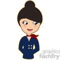flight attendant cartoon character vector image  gif, png, jpg, eps, svg, pdf