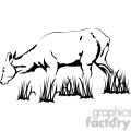 black and white elk cow  gif, png, jpg, eps, svg, pdf