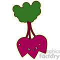 Beetroot cartoon character vector clip art image