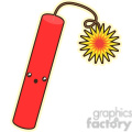 Dynamite cartoon character vector clip art image