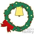Christmas wreath cartoon character vector clip art image