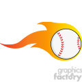 flaming baseball ball  gif, png, jpg, eps, svg, pdf