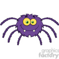 8951 Royalty Free RF Clipart Illustration Funny Spider Cartoon Character Vector Illustration Isolated On White vector clip art image