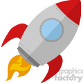8301 Royalty Free RF Clipart Illustration Rocket Ship Start Up Concept Flat Style Vector Illustration