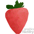 Strawberry geometry geometric polygon vector graphics RF clip art images