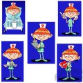 betty the cartoon nurse clip art image set  gif, png, jpg, eps, svg, pdf