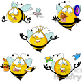 bob the cartoon bee character set