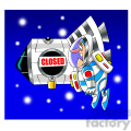scott the astronaut cartoon character locked out of ISS