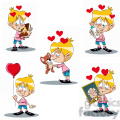 bryce the cartoon character clip art image set
