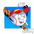cartoon baseball mascot speedy catching a ball  gif, png, jpg, eps, svg, pdf