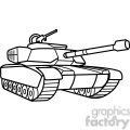 military tank outline