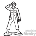 outline of toy soldier illustration graphic