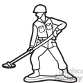black white toy mine sweeper soldier illustration graphic