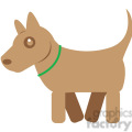 Brown Dog vector image RF clip art