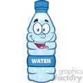 royalty free rf clipart illustration water plastic bottle cartoon mascot character vector illustration isolated on white