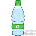 9354 royalty free rf clipart illustration water plastic bottle cartoon illustratoion vector illustration isolated on white