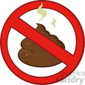 royalty free rf clipart illustration stop prohibition sign over pile of smelly poop vector illustration isolated on white