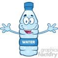 illustration cartoon ilustation of a water plastic bottle mascot character with open arms wanting a hug vector illustration isolated on white background