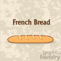 illustration cartoon french bread baguette poster design with text vector illustration background  gif, png, jpg, eps, svg, pdf