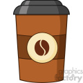 illustration coffee cup cartoon vector illustration isolated on white