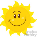 smiling yellow simple sun cartoon mascot character vector illustration isolated on white background  gif, png, jpg, eps, svg, pdf