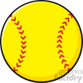cartoon softball vector illustration isolated on white background