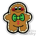 christmas gingerbread man v2 sticker