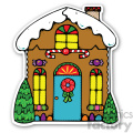 christmas gingerbread house sticker  gif, png, jpg, eps, svg, pdf
