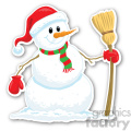 christmas snowman v6 sticker