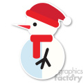 snowman profile with santa hat icon vector art  gif, png, jpg, eps, svg, pdf