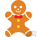 gingerbread man icon vector art
