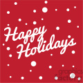 red happy holidays svg eps clip art