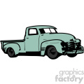 ocean green old 1954 vintage pickup truck right profile vector image