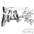vintage distressed vintage owls in a tree with a ribbon GF vector design vintage 1900 vector art GF