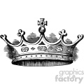 vintage small crown vector vintage 1900 vector art GF
