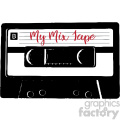 my mix tape cassette tape music vector