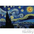 starry night sky vector art GF
