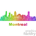 colorful city skyline vector clipart can montreal  gif, png, jpg, eps, svg, pdf