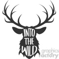 into the wild deer svg cut file vector design