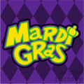 mardi gras with background vector art