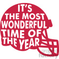football helmet favorite time of year vector design